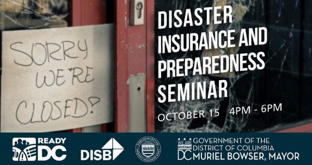 Attend a free seminar on 10/15 to learn more about disaster preparedness and insurance. Register now!