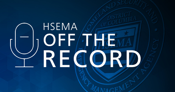 "A blue background with a microphone and the text ""H-S-E-M-A Off the Record"""