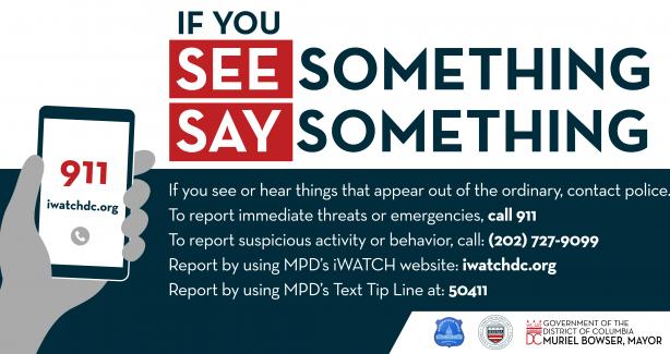 See Something, Say Something Infographic