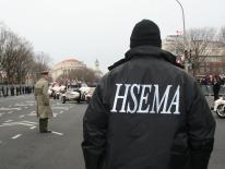Man in HSEMA jacket